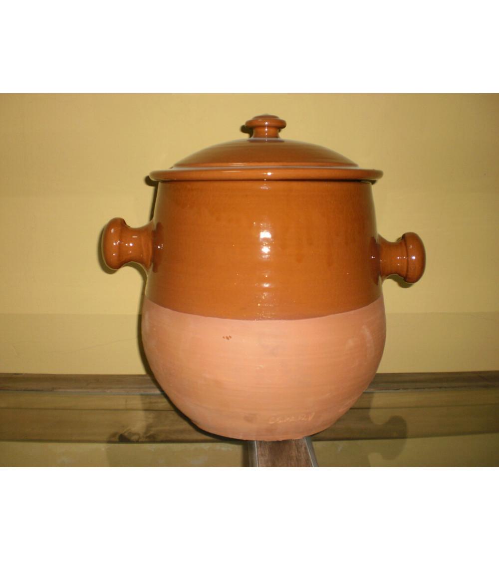 Puchero de barro  para cocinar de 15x15 cm. con capacidad para 2 litros aprox.