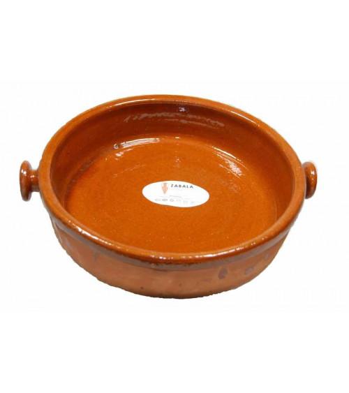 Cazuela de barro redonda ecológica pereruela para cocinar de 25 cm