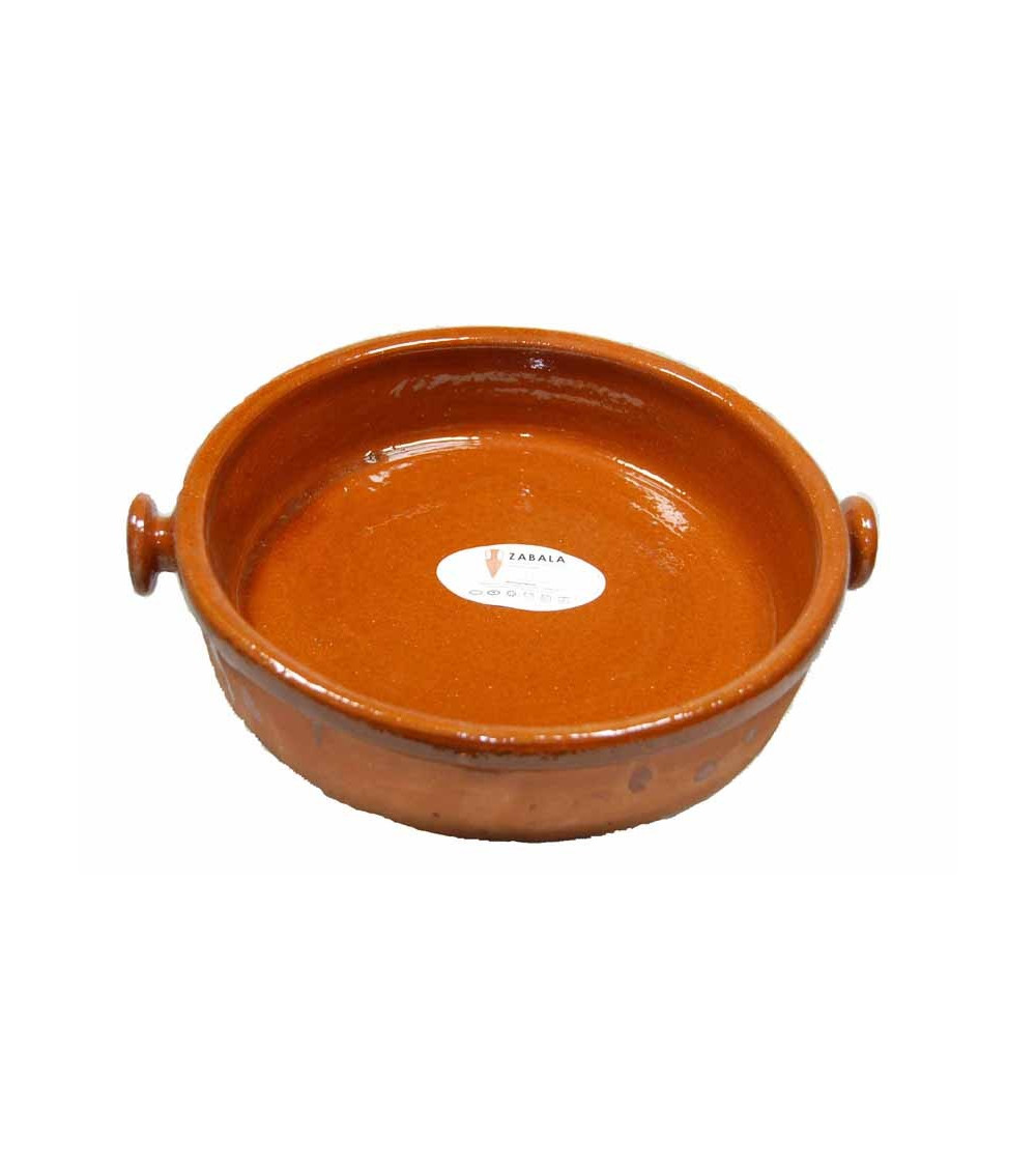 Cazuela de barro redonda para cocinar de 25 cm
